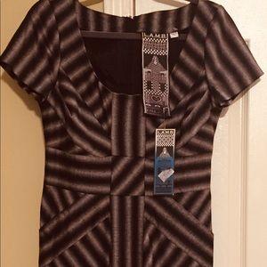 L.A.M.B designer dressNWT black/gray  size 10